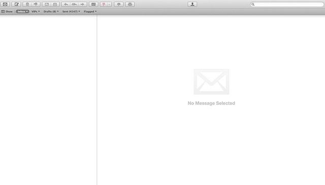 Mail inbox zeroed