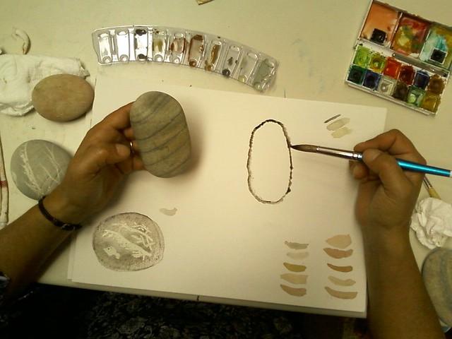 Stones watercolour workshop