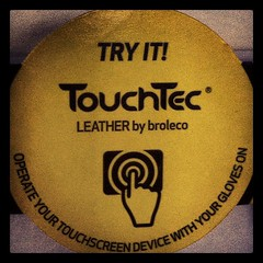 FYI this works: touch leather