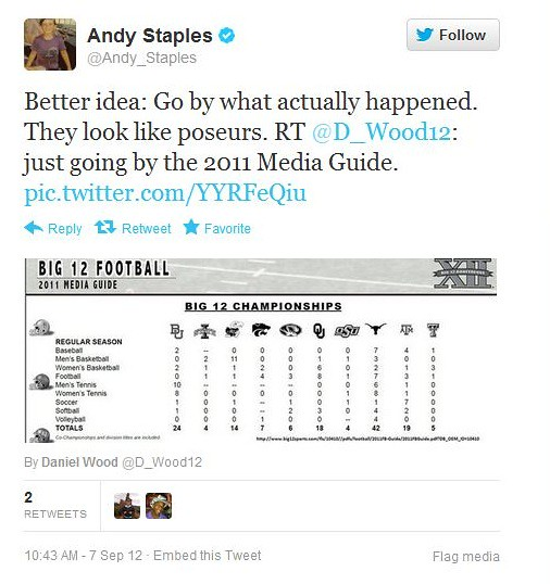 Andy Staples - twitter