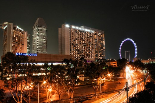 Singapore Night Shot: Raffles Boulevard
