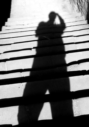 20120909-38_Kenilworth Castle B+W self portrait shadow by gary.hadden