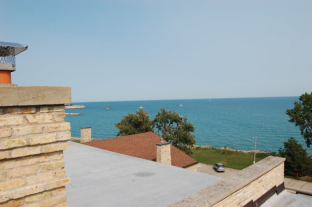 View of Lake Michigan from the astronomy observatory deck