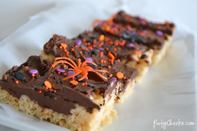 Halloween Nutella Rice Krispie Treats by Poofy Cheeks