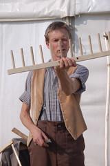 making wooden rakes