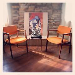 MID CENTURY MODERN Chairs Burnt Orange Danish Modern Style Side, Desk, Accent, Dining Armchair Walnut Teak Wood Mid Century Modern Furniture