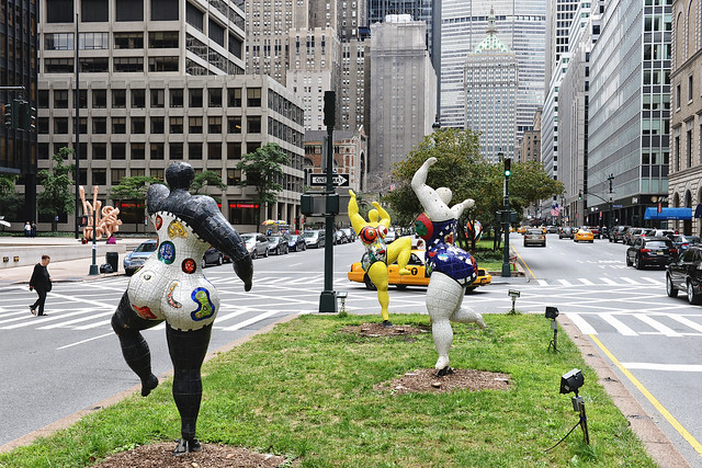 Niki de Saint Phalle sculptures in new york city