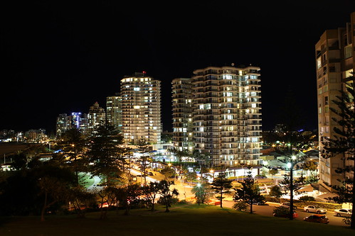 Coolangatta at Night by holidaypointau