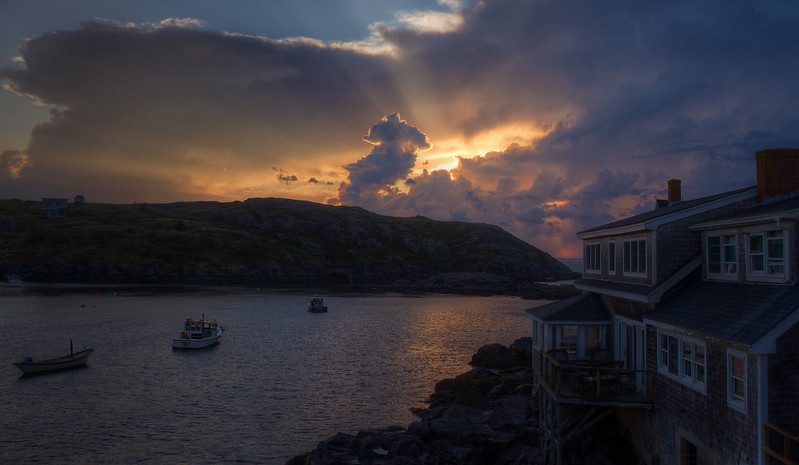 Monhegan Harbor Sunset.jpg