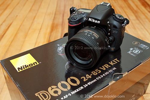 Nikon D600 unboxing unbox full frame FX kit lens 24-85mm dslr