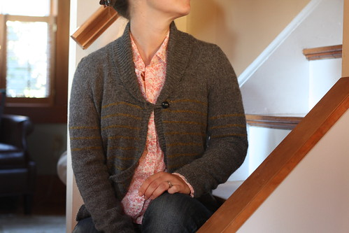 knitting, handknitting, sweater, larch, cardigan