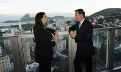 PM with Maria Gracias-Foster the President of Petrobras