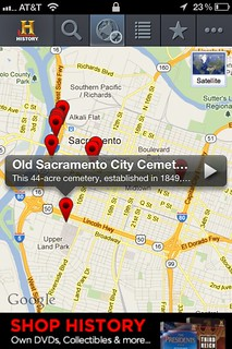 HISTORY Here iPhone App-Map Page