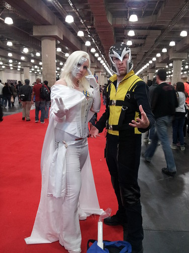 Magneto and Emma Frost