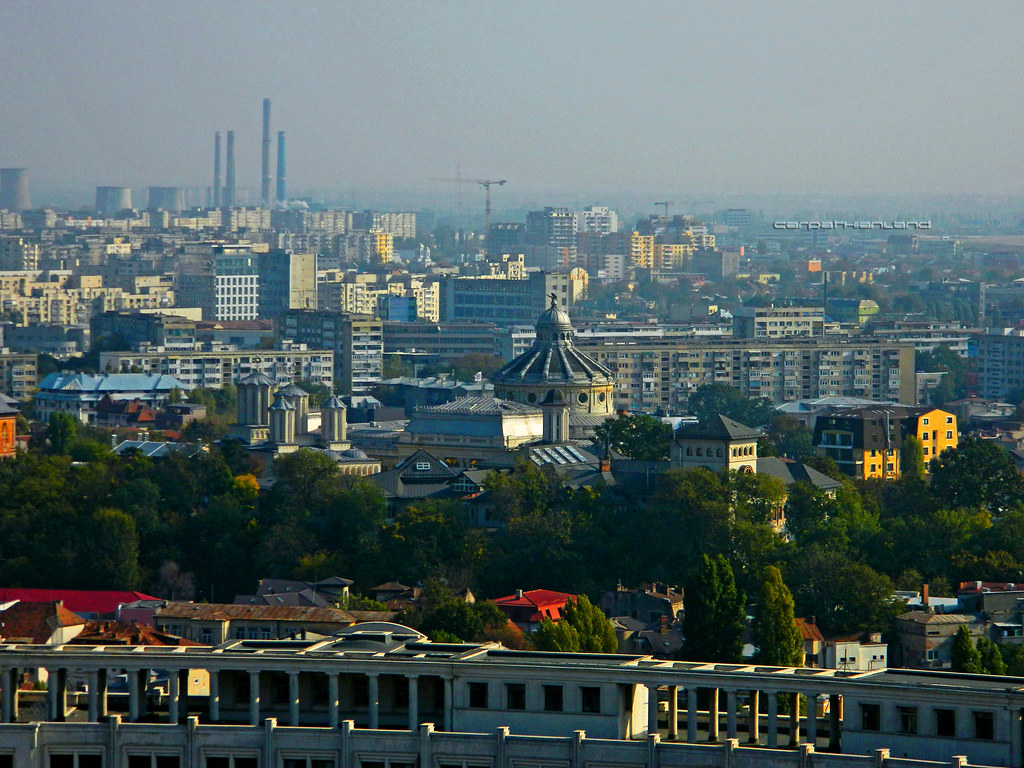 From the roof of Parliament Palace, Bucharest