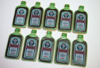 Jagermeister bottle cookies