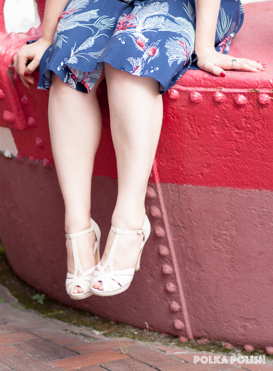 BAIT Lacey pumps from Royal Vintage Shoes are a perfect finishing touch on a summer outfit