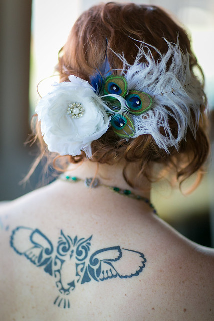 Bridal Hairpiece with my sweet owl tatoo