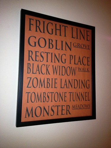 fright line on the wall