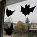 paper bat silhouettes