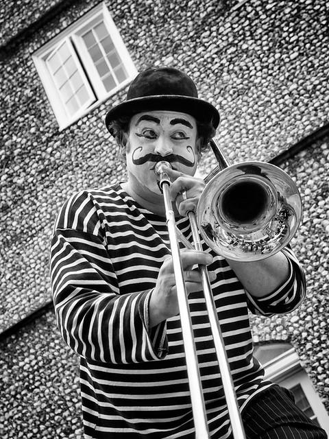 The trombone clown