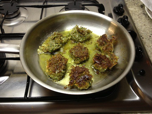 Greek courgette fritters