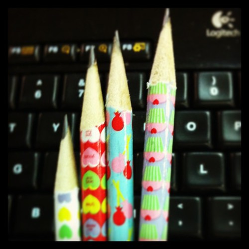 Pencils! Had to hunt down a sharpener in the office but it was worth it. #nerd