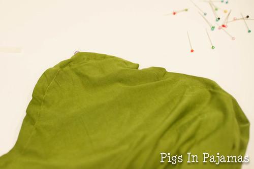 Shoulder sewn