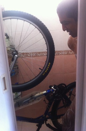Shower with your bike!