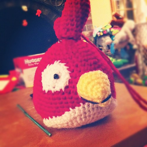 Getting there with #angrybird #amigurumi #crochet #monster