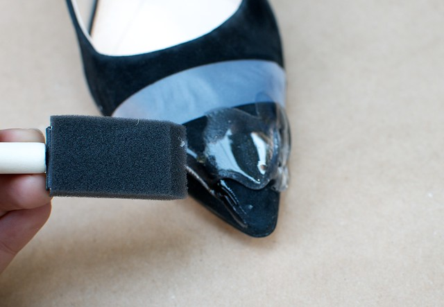 diy nine west caviar tipped heels 3