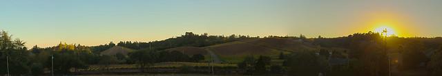Wine Country Sunset Panorama