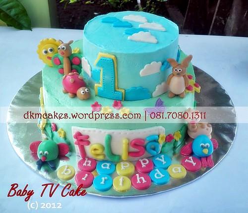 DKMCakes, pesan cupcake jember, pesan kue jember, pesan kue ulang tahun anak jember, pesan kue ulang tahun jember, baby tv cake