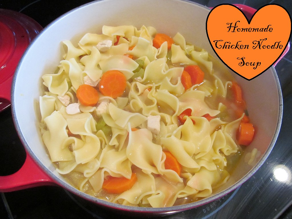 Homemade chicken noodle