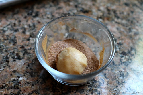 roll in cinnamon sugar