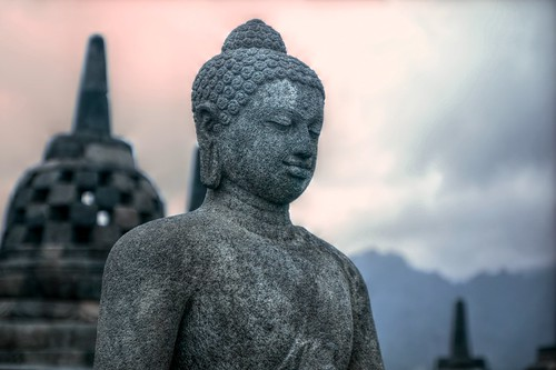 Borobudur-Buddha by Shifting sands