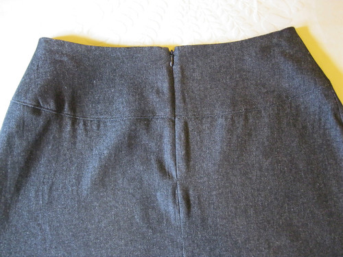 A-line skirt for Terri - back invisible zip