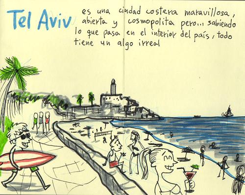 Palestine Sketchbook #27 - Tel Aviv