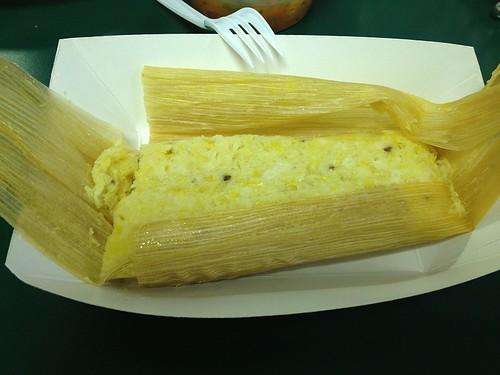 Inside of Corn Husk Goodness