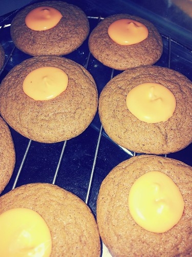 Ginger Pumpkin Spice Kiss Cookies