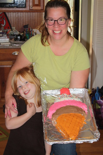 Presenting the birthday cake