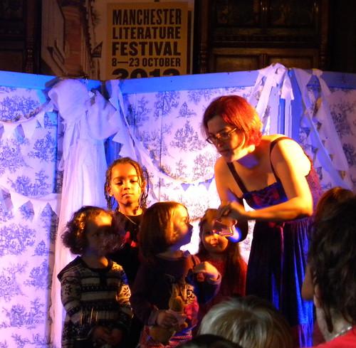 Juliet Clare Bell blows bubbles