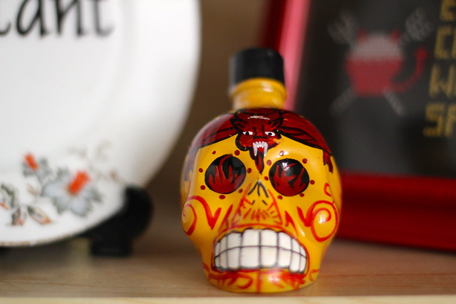 Sunday: tequila demon skull birthday present