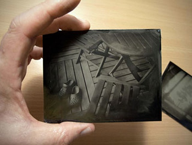 polaroid collodion humedo