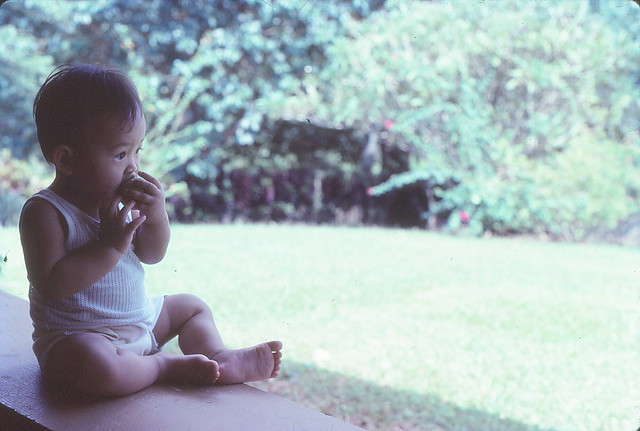 1982 - Me eating guava