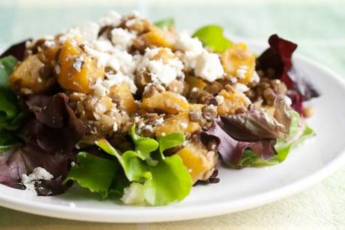 Squash and Lentil Salad with Feta