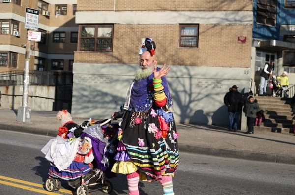 Waving to the crowd at Three Kings' Day Parade