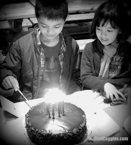 Day 18/365 (2013): The Boy at his Birthday Party, with Sister