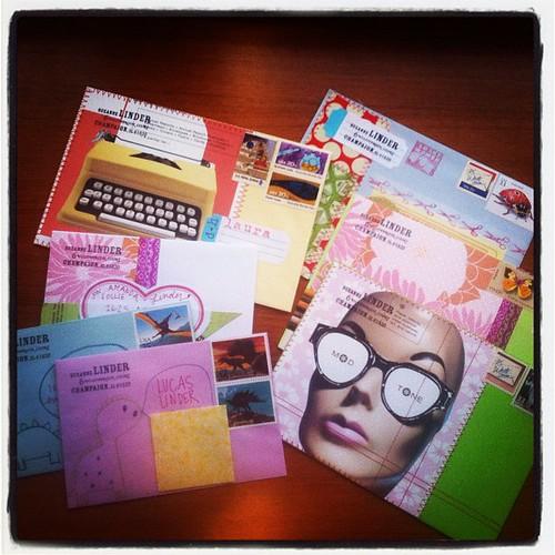 Prepping envelopes for the week