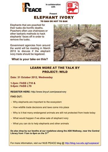 ELephant Ivory Trade - 31 Oct 2012 @ NUS